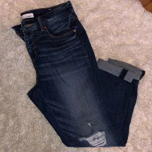 Loft petite mid rise skinny jeans